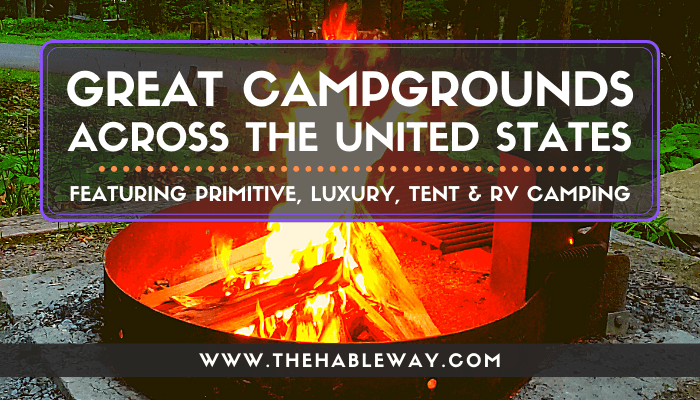 Great Campgrounds in the 50 United States